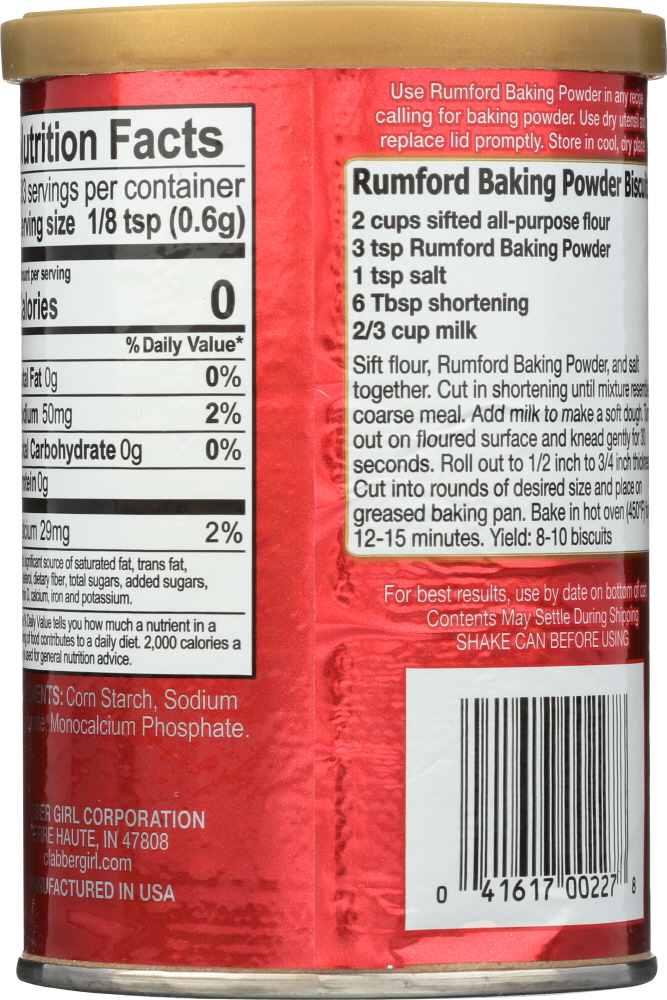 RUMFORD: Baking Powder, 8.1 oz
