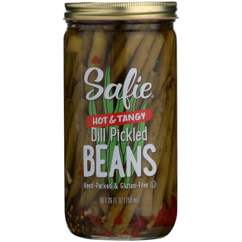 SAFIE: Pickled Beans Hot N Tangy, 26 oz