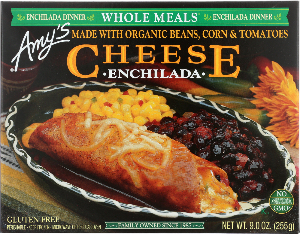 AMY'S: Cheese Enchilada Whole Meal, 9 oz