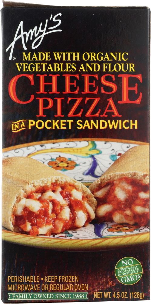 AMY'S: Cheese Pizza in a Pocket Sandwich, 4.5 Oz