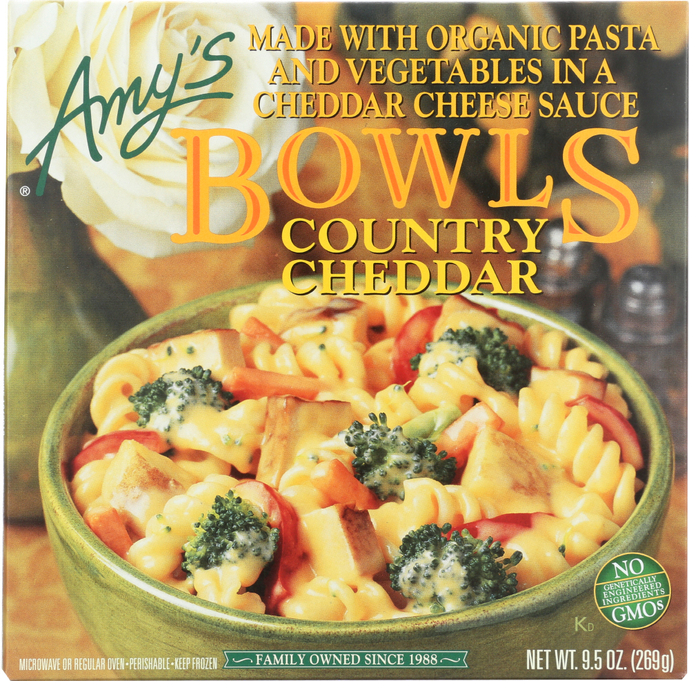AMY'S: Country Cheddar Bowl, 9.5 Oz