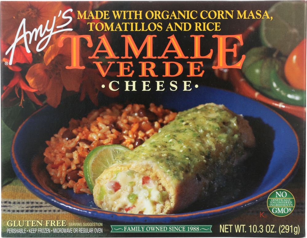 AMY'S: Cheese Tamale Verde, 10.3 oz