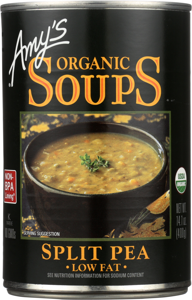 AMY'S: Organic Soup Low Fat Split Pea, 14.1 oz