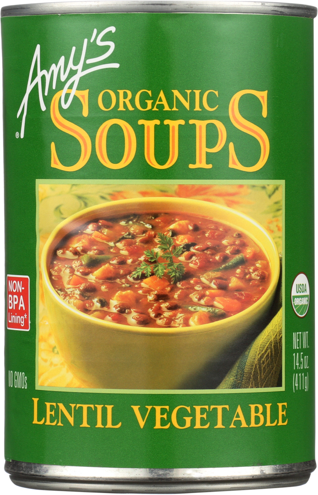 AMY'S: Organic Soup Lentil Vegetable, 14.5 Oz