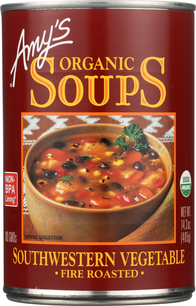 AMY'S: Organic Soup Fire Roasted Southwestern Vegetable, 14.3 oz