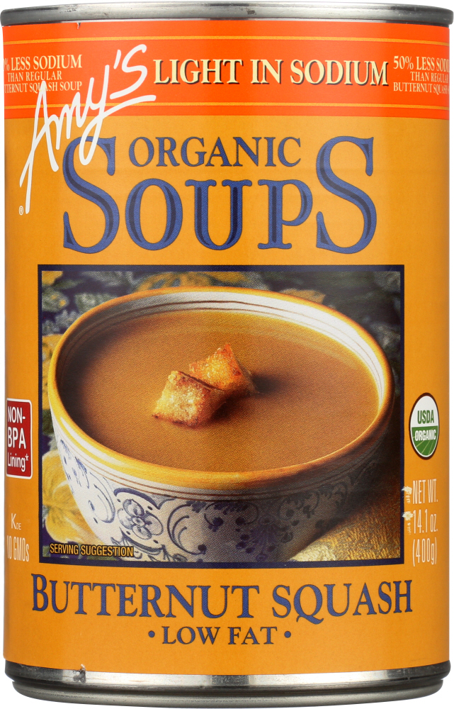 AMY'S: Organic Soup Light in Sodium Butternut Squash, 14.1 oz