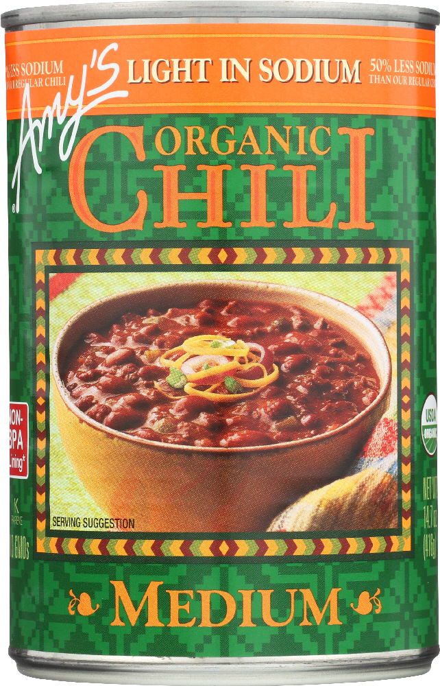 AMY'S: Organic Chili Light in Sodium Medium, 14.7 oz