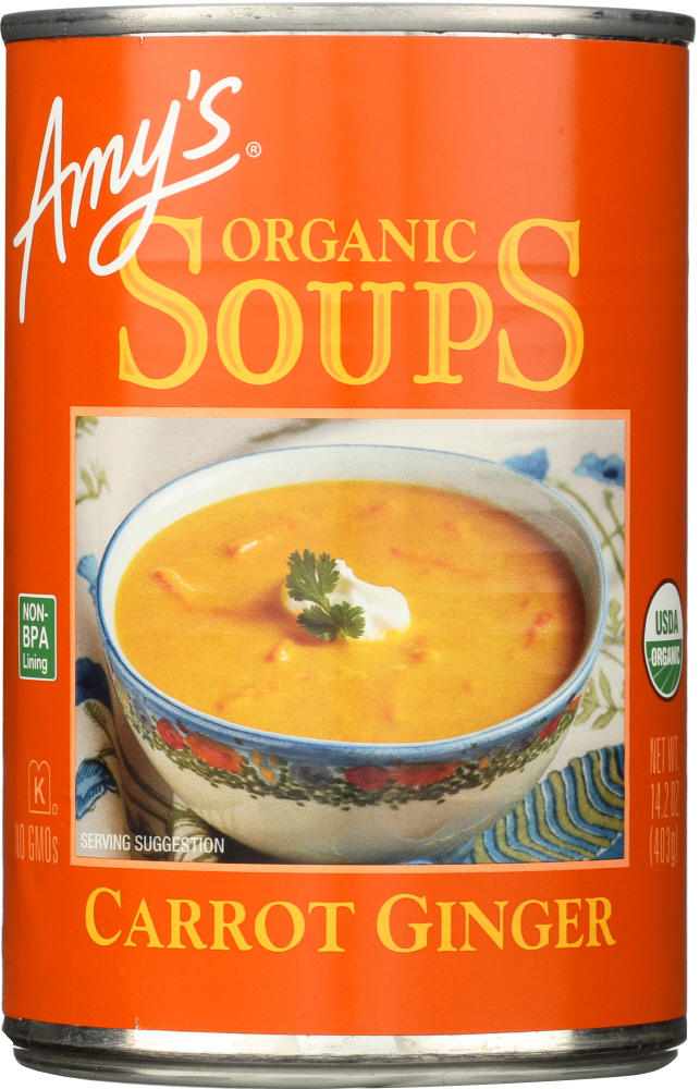 AMYS: Soup Carrot Ginger Organic, 14.2 oz