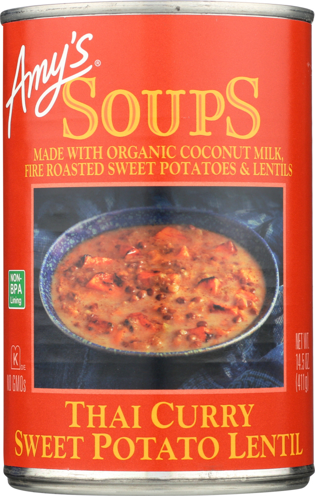 AMYS: Soup Lentil Thai Curry Sweet Potato, 14.5 oz
