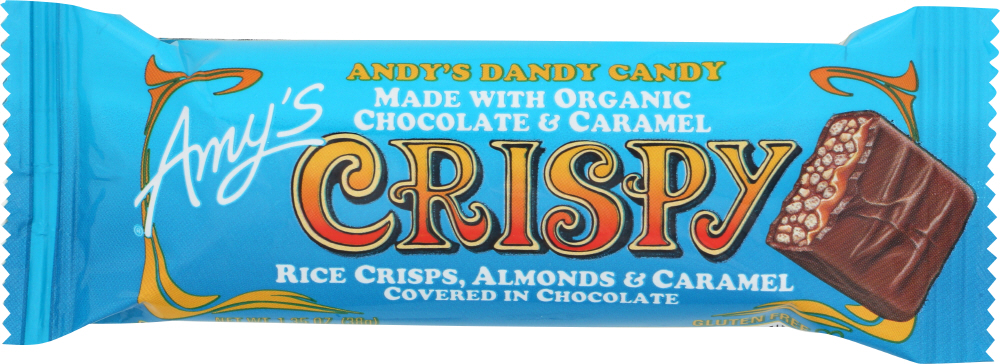 AMYS: Crispy Candy Bar Single Organic, 1.35 oz