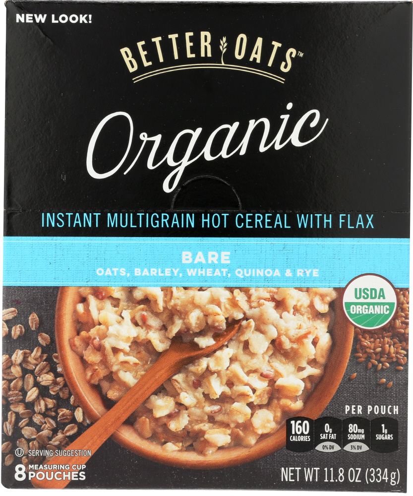BETTER OATS: Instant Multigrain Hot Cereal with Flax, 11.8 oz