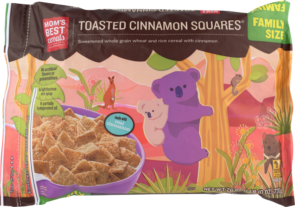 MOMS BEST: Cereal Toasted Cinnamion, 26 oz