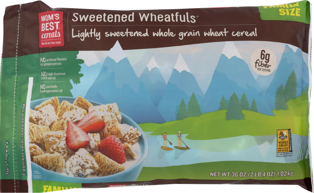 MOMS BEST: Cereal Sweetened Wheatfuls, 36 oz