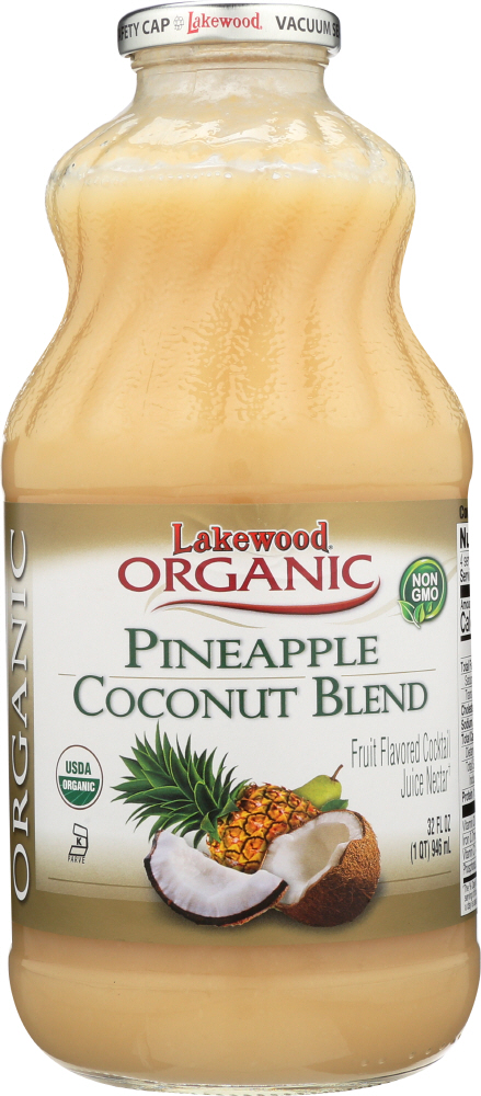 LAKEWOOD: Organic Pineapple Coconut Pina Colada, 32 oz