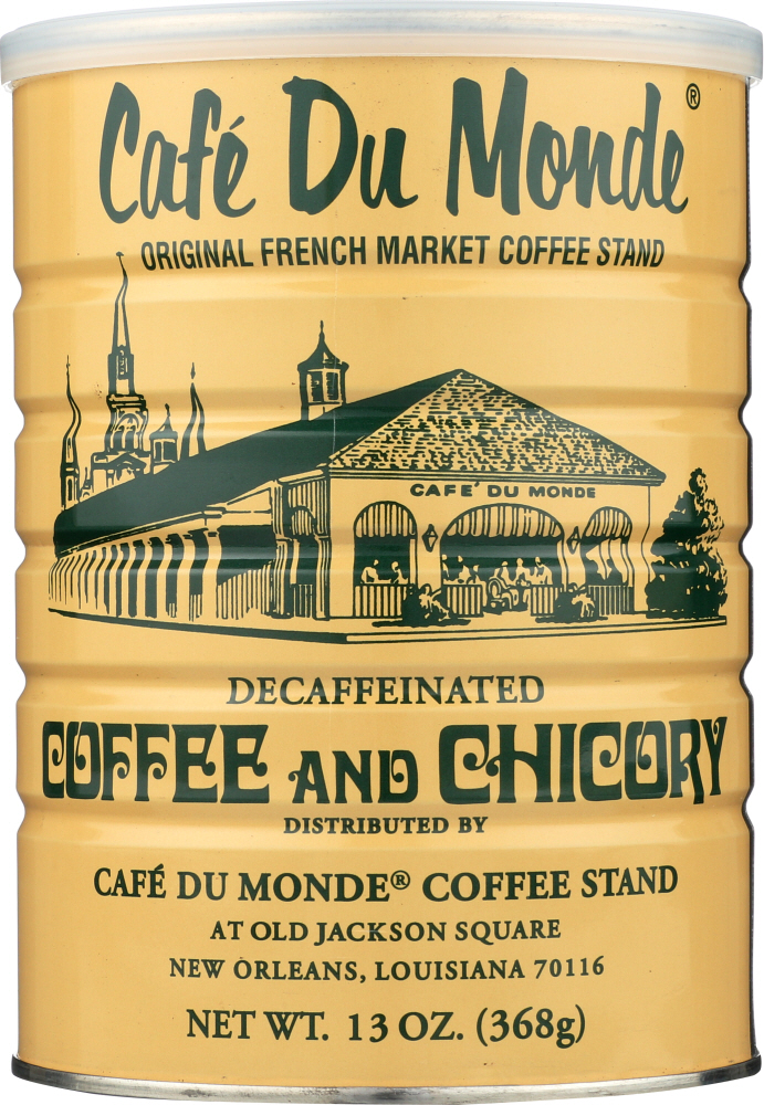 CAFE DU MONDE: Decaffeinated Coffee and Chicory, 13 oz