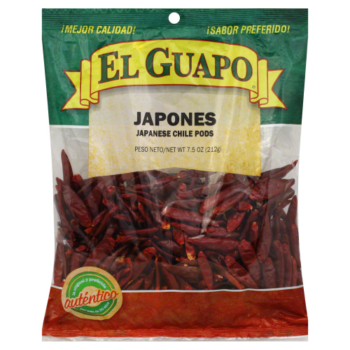 EL GUAPO: Spice Japanese Red Pepper Whole, 7.5 oz