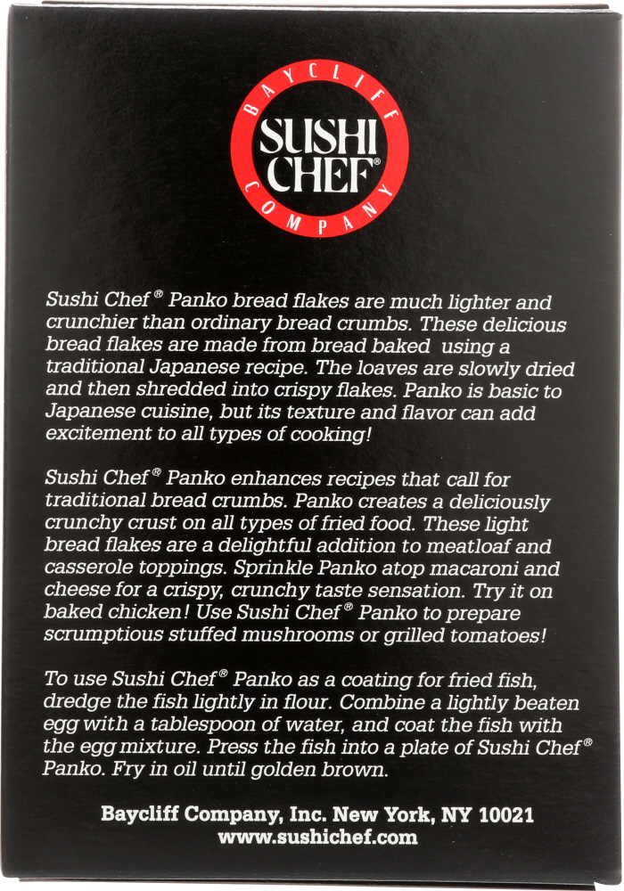 SUSHI CHEF: Panko Japanese Style Bread Flakes, 8 oz