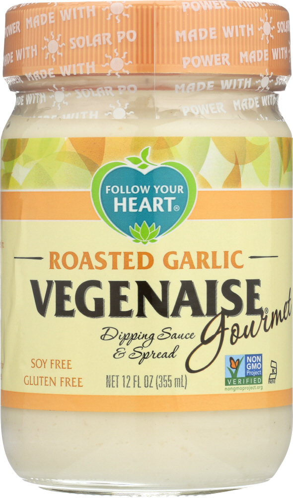 FOLLOW YOUR HEART: Gourmet Roasted Garlic Vegenaise, 12 oz