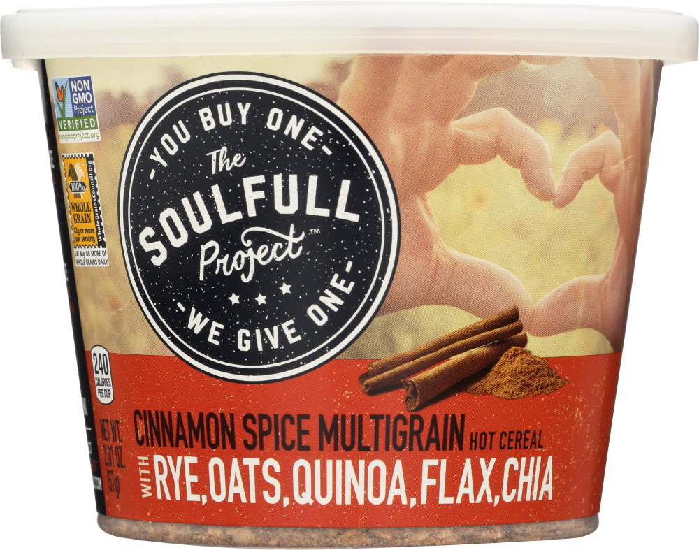 THE SOULFULL PROJECT: Hot Cereal Cinnamon Spice, 2.01 oz