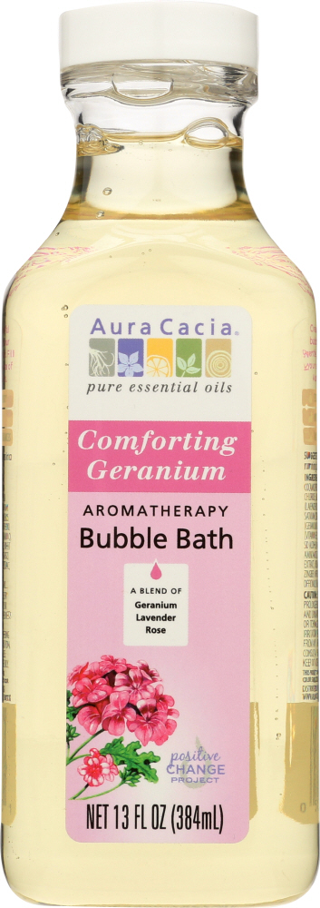 AURA CACIA: Comforting Geranium Bubble Bath, 13 oz