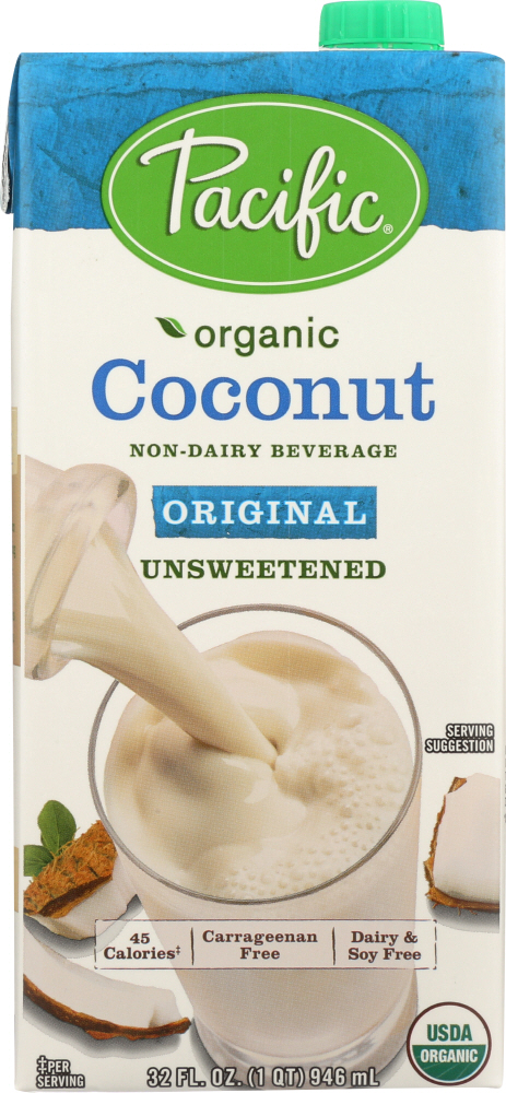 PACIFIC FOODS: Organic Coconut Original Unsweetened Non-Dairy Beverage, 32 oz
