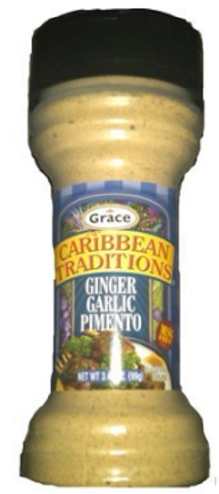 GRACE CARIBBEAN: Seasoning Ginger Garlic, 3.49 oz
