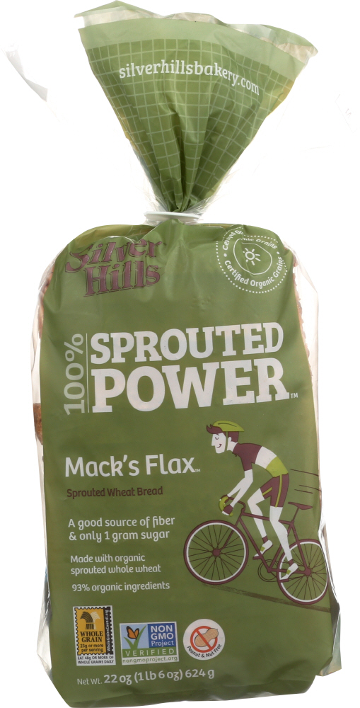 SILVER HILLS: Macks Flax Sprouted Bread, 22 oz