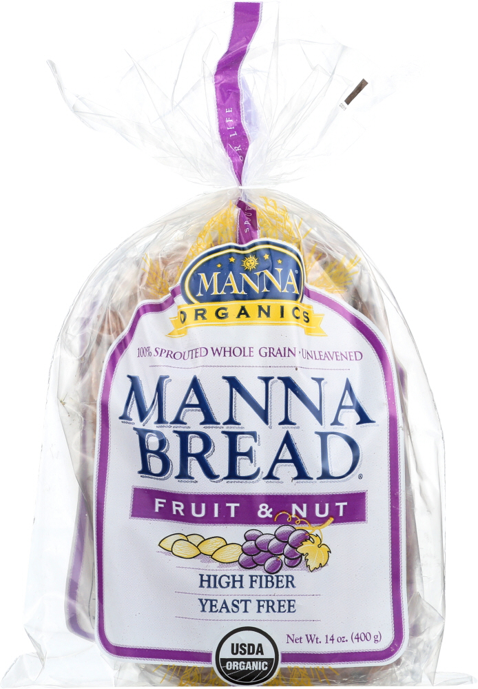 MANNA ORGANICS: Organic Sprouted Bread Fruit and Nut, 14 oz