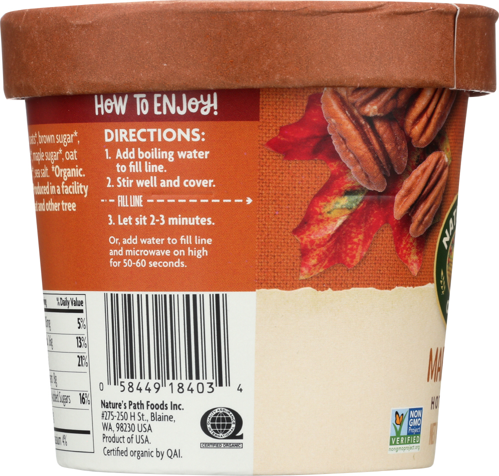 NATURES PATH: Maple Pecan Oatmeal Cup, 1.94 oz