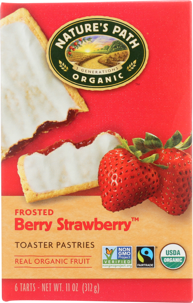NATURE'S PATH: Organic Toaster Pastries Berry Strawberry Frosted, 11 oz