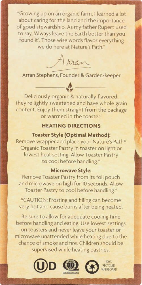 NATURE'S PATH: Organic Frosted Mmmaple Brown Sugar Toaster Pastries, 11 oz