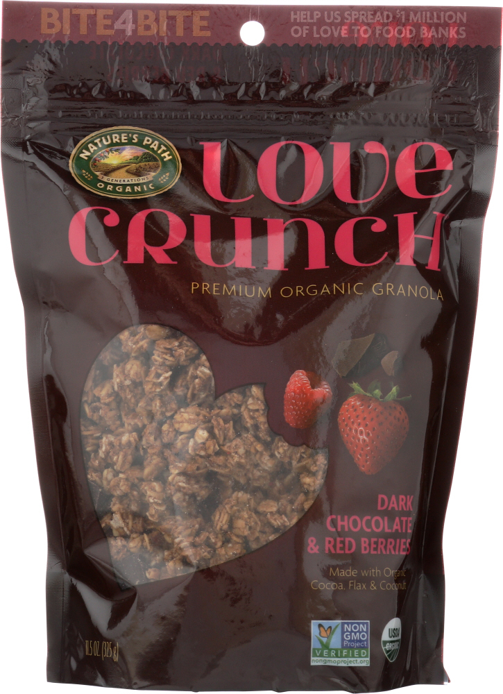 NATURE'S PATH: Love Crunch Premium Organic Granola Dark Chocolate and Red Berries, 11.5 oz