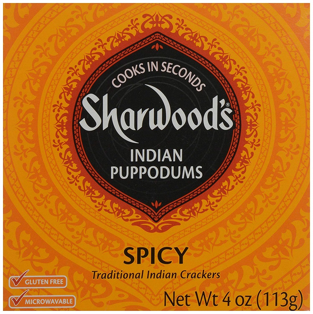 SHARWOODS: Indian Puppodum Spicy, 4 oz