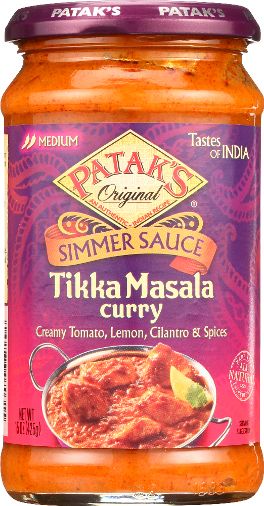 PATAK'S: Tikka Masala Curry Cooking Sauce, 15 Oz