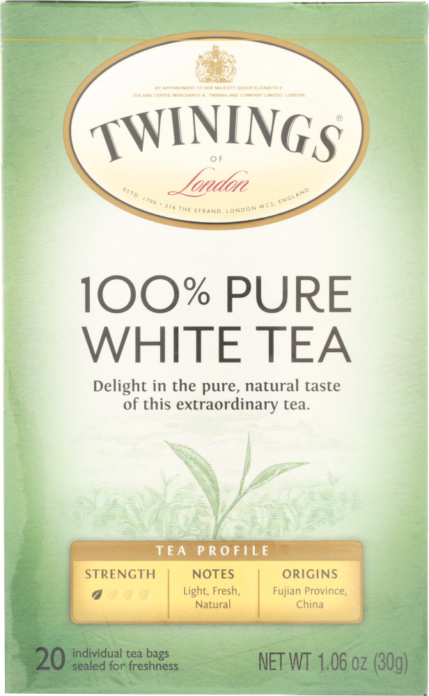 TWINING TEA: Pure White Tea, 20 bg