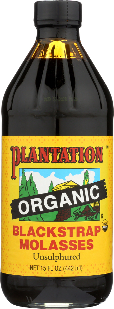 PLANTATION: Organic Blackstrap Molasses, 15 oz