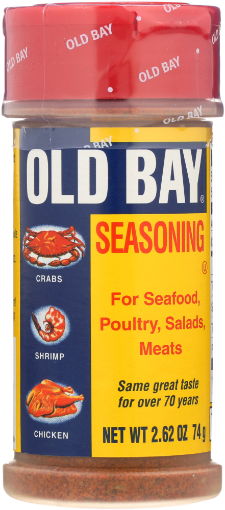 OLD BAY: Seasoning For Seafoods Poultry Salads Meats, 2.62 oz