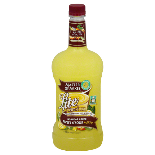 MASTER OF MIXES: Mix Sweet N' Sour Lite, 1.75 lt