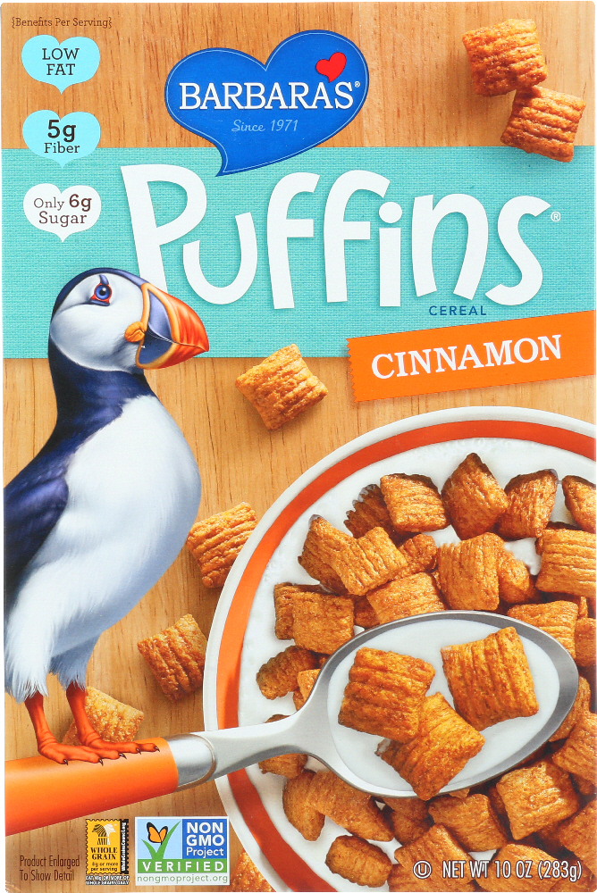 BARBARA'S BAKERY: Puffins Cereal Cinnamon, 10 oz