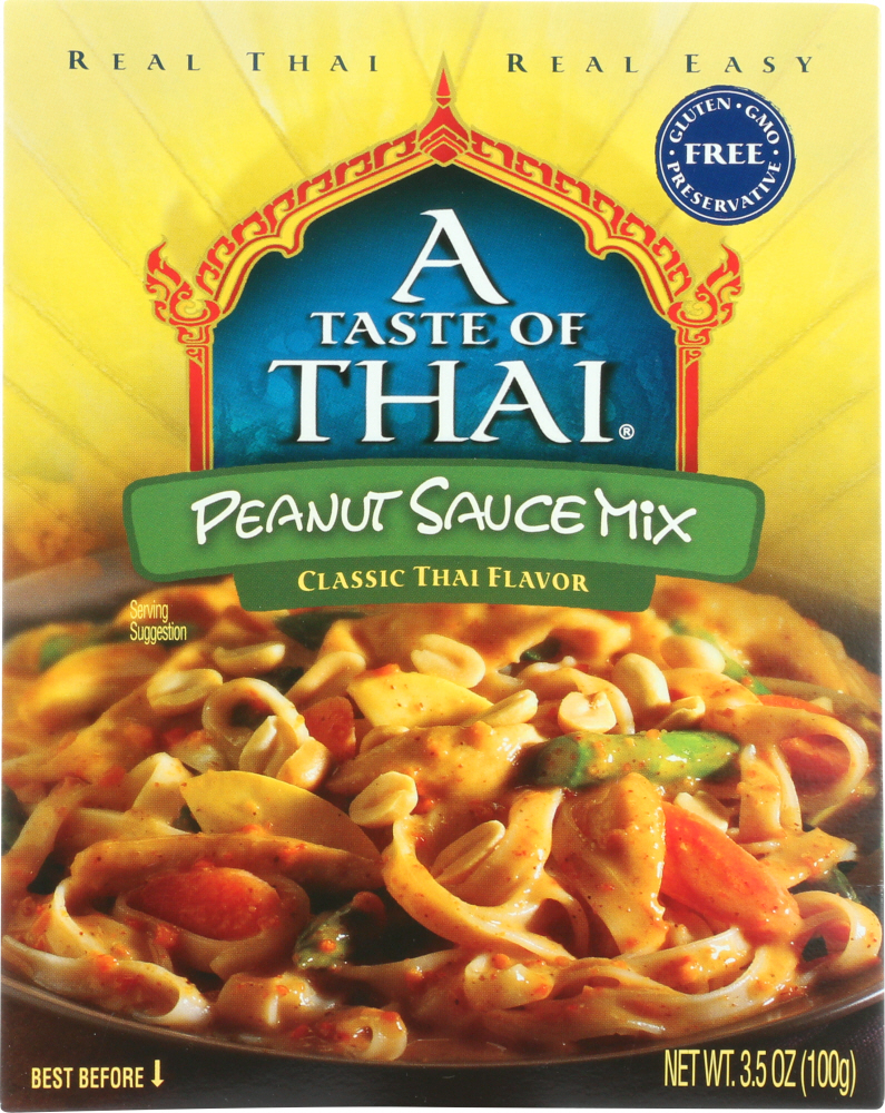 TASTE OF THAI: Peanut Sauce Mix, 3.5 oz