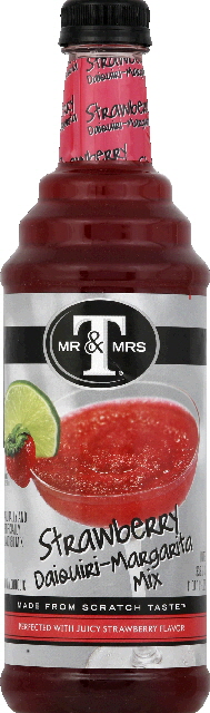 MR & MRS T: Strawberry Daiquiri Margarita Mix, 33.8 fo