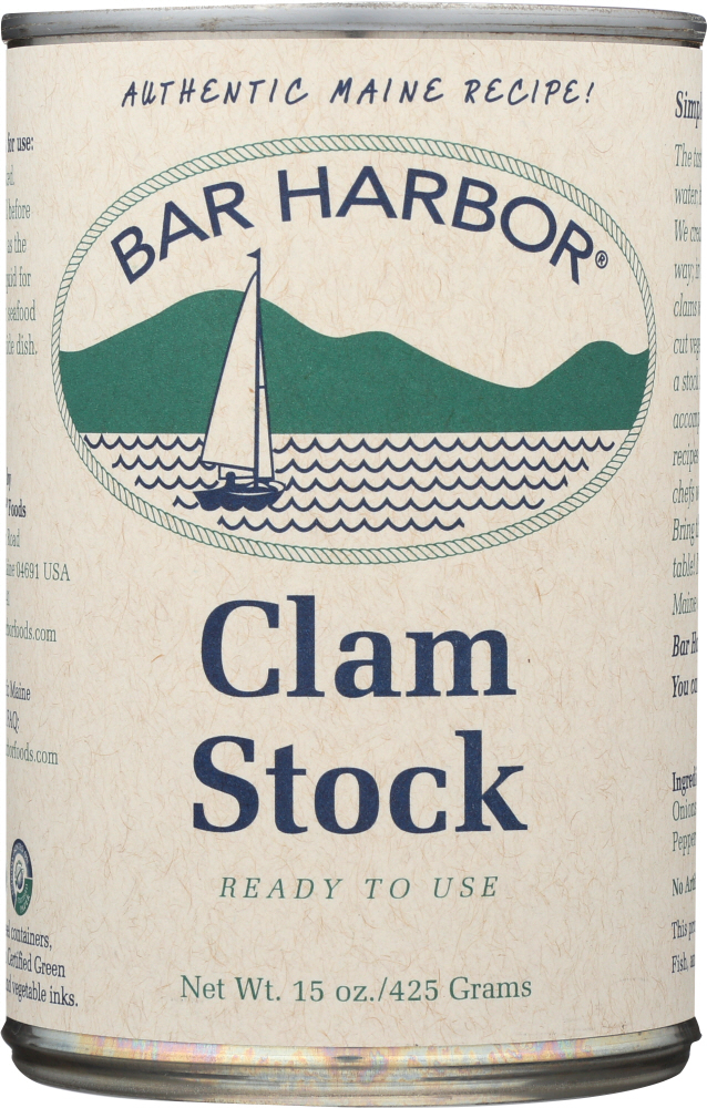 BAR HARBOR: All Natural Clam Stock, 15 oz