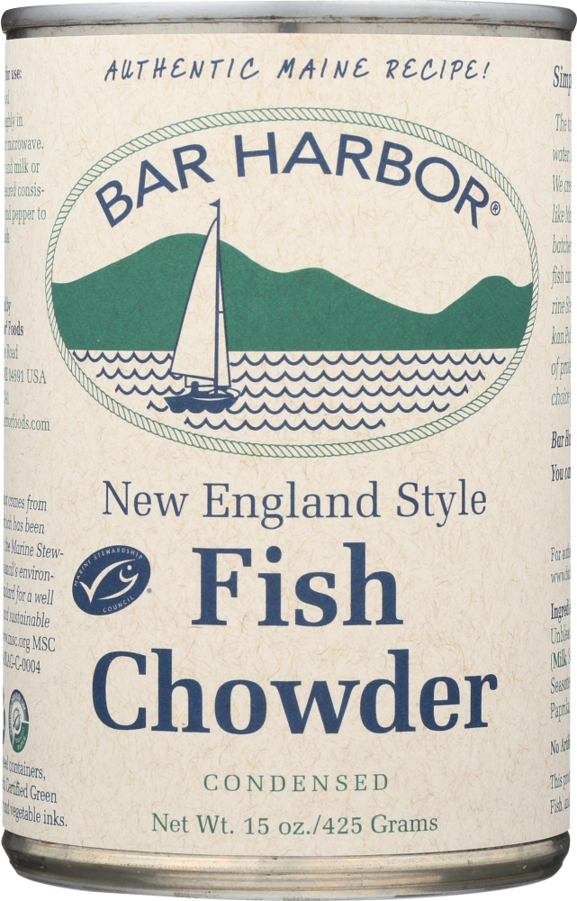 BAR HARBOR: Soup Chowder Fish, 15 oz
