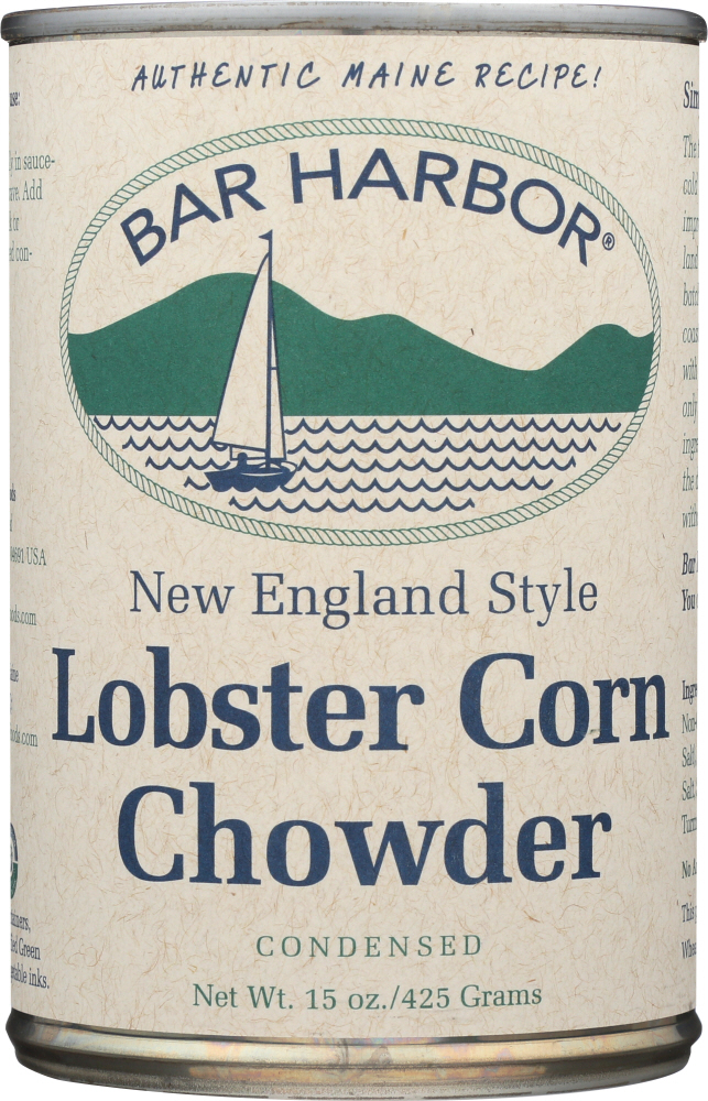 BAR HARBOR: Soup Chowder Lobster & Corn, 15 oz
