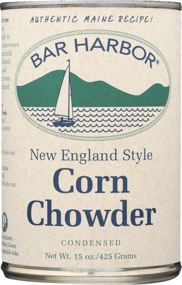 BAR HARBOR: New England Style Corn Chowder All Natural Condensed, 15 oz
