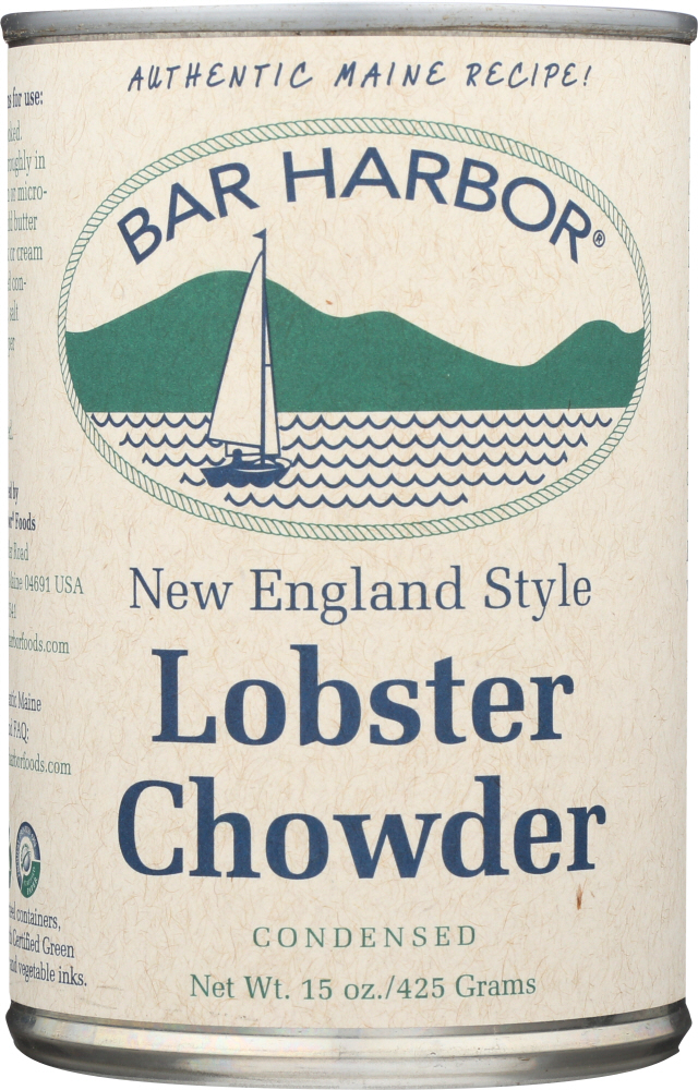 BAR HARBOR: New England Style Lobster Chowder All Natural Condensed, 15 oz