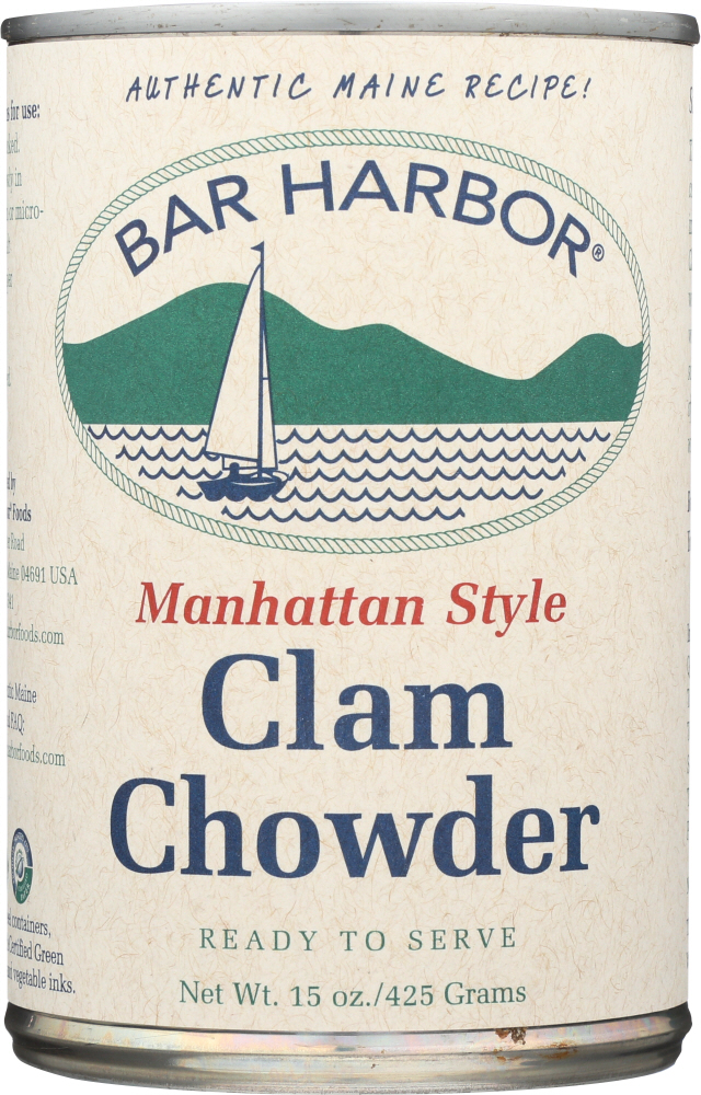 BAR HARBOR: Clam Chowder Manhattan Style, 15 Oz