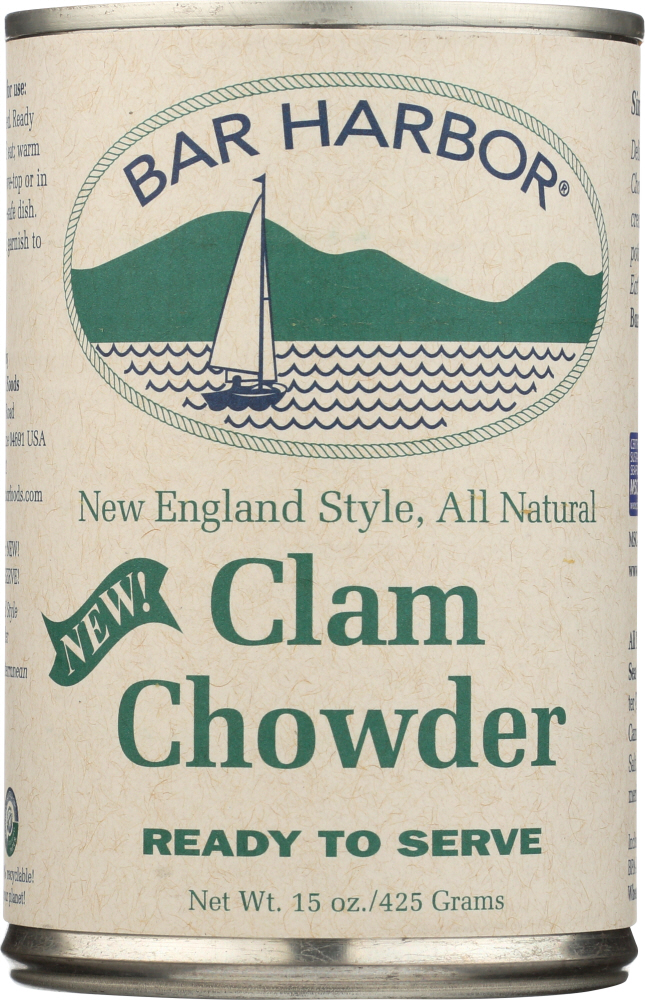 BAR HARBOR: Soup Chowder Clam New England Ready To Served, 15 oz