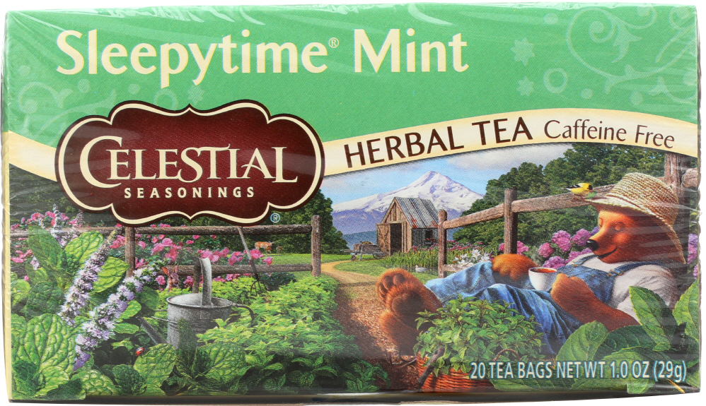 CELESTIAL SEASONINGS: Sleepytime Mint Tea Pack of 20, 1 oz