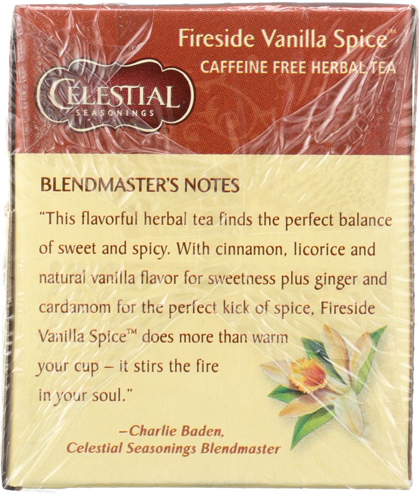 CELESTIAL SEASONINGS: Fireside Vanilla Spice Tea Pack of 20, 1.5 oz